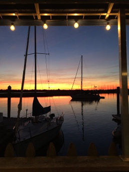 Silhouette Sailboats - Oak Island/Southport NC November 2015