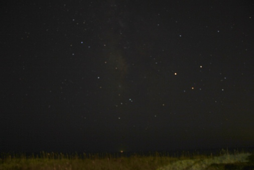 Star Gazing - Mercury, Venus & Saturn (I think) looking Southward over the Atlantic September 2016