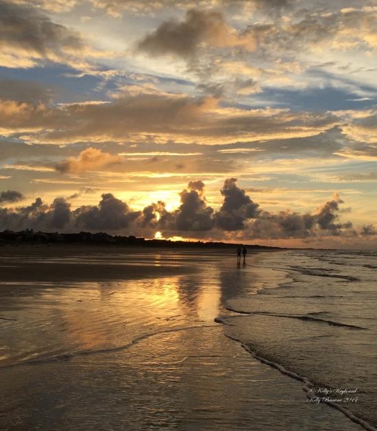 Morning sunrise through clouds at Kiaway